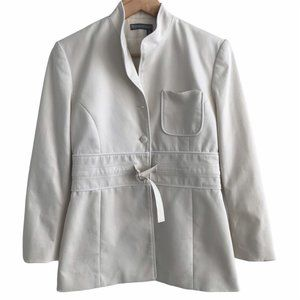 TRISTAN Women's Suit Off-white Jacket and Skirt 4